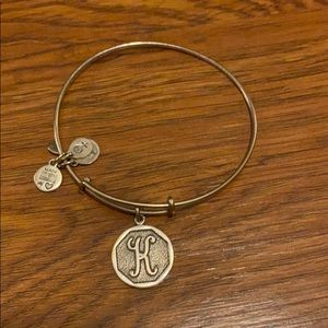"""K"" Alex and Ani bracelet"